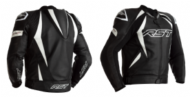 RST Tractech Evo 4 Black White Leather Jacket